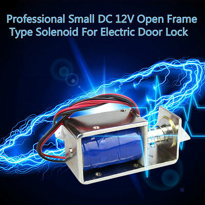 Professional Small DC 12V Open Frame Type Solenoid For Electric Door Lock XRAU
