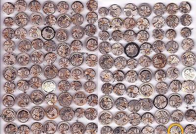Lot of 140 MEN WATCHES  Vintage Movements Steampunk Art  or for parts