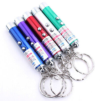 1PSC 2 in 1 LASER / LAZER POINTER PEN +  LED LIGHT TORCH PET TOY NICE GIFT