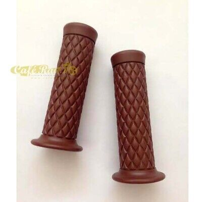 Manopole grips brown marroni 25mm scrambler cafè race custom vintage
