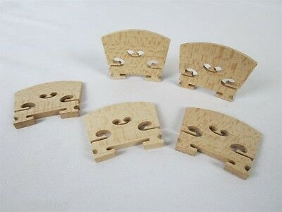 10pcs class special grade 4/4 violin bridges flamed maple laser precise