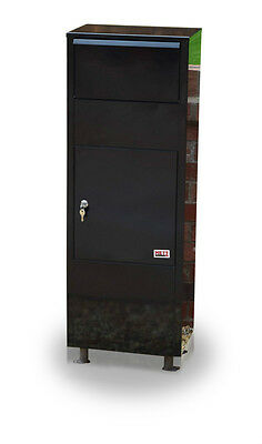 11 METZ Large BLACK  Letter Box Post Box Mail  Letterbox Drop tall PARCEL Box