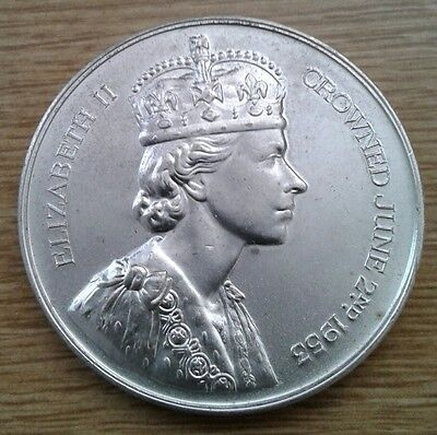 Large Spink Silvered Bronze Queen Elizabeth 11 1953 Coronation Medal, 57mm.