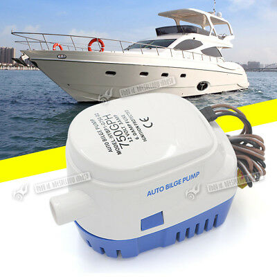 12V 750 GPH Automatic Bilge Pump with Internal Float Switch for Yacht Kayak Boat