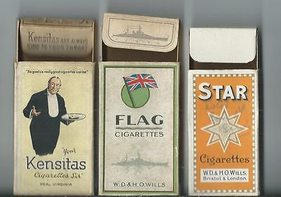 3 Empty 10s Cigarette Packets