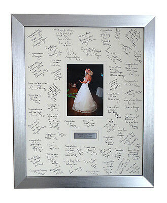Luxury Personalised First Dance Guest Signing Frame - Black Wooden Luxury Frame