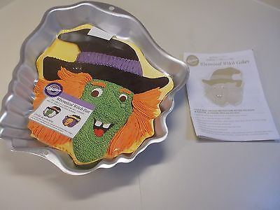 Vintage Wilton Whimsical Halloween Witch Cake Pan 2002 Retired w/insert