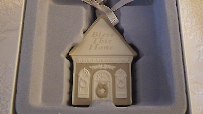 Wedgwood Bless This Home #03036 Christmas Holiday Ornament NIB New