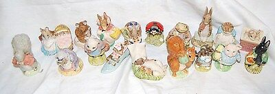 Lot of 18 EXCELLENT Beatrix Potter Figurines Beswick Royal Albert BR34/V