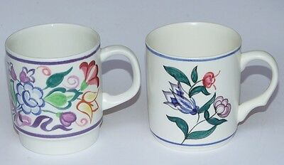 2 x Poole Pottery Mugs - One Traditional Design / One Unusual Design