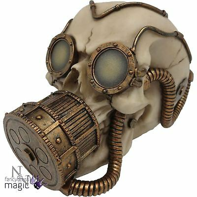 Nemesis Now Steampunk Dragon Mechanical Respirator Skull Gift Ornament Figurine