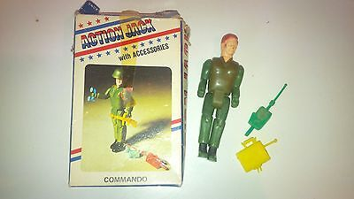 """Vintage BOXED Star Toys """"ACTION JACK"""" Figure and Accessories - Commando"""