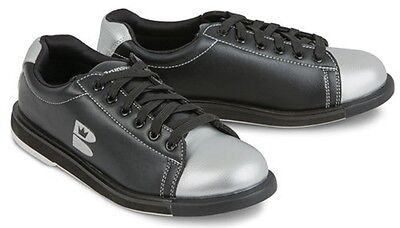 Youth Boys Brunswick TZone Bowling Shoes Color Black & Silver Size 4