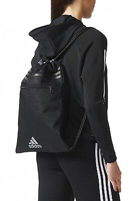 adidas Kinder Turnbeutel 3 STRIPES PERFORMANCE GYMBAG Tasche schwarz