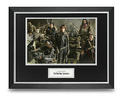 Felicity Jones Signed Photo Framed 16x12 Star Wars Autograph Memorabilia + COA