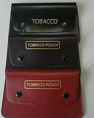 Real leather tobacco pouch fully lined with paper slot