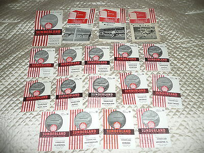 collection of SUNDERLAND F.C 18 programmes from 1962 to 1968 seasons