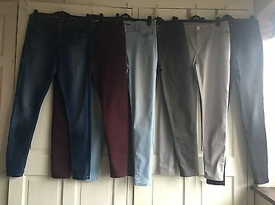 M&S 6 Piece Skinny Jeans And Jeggings Bundle Size 14 Long Leg