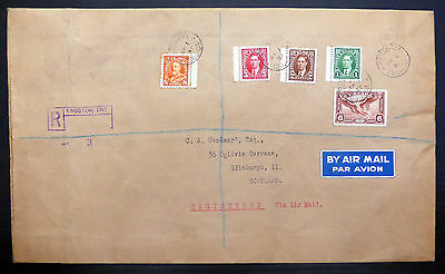 CANADA 1937 Registered Airmail Cover to Scotland Concertina Envelope XY605