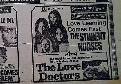 May 21, 1971 Newspaper Page #j5406- Shocking Adult Movie Ads- The Love Doctors