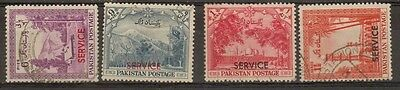 Pakistan:1954:6p to 1 1/2a(Official's).Used.£13+
