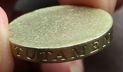 One Pound £1 Coin Huge Error Blank Unstruck With Side Lettering Very Rare