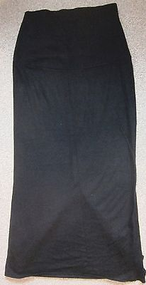Debenhams Black Long Length Maternity Skirt In Superb Condition Size 10