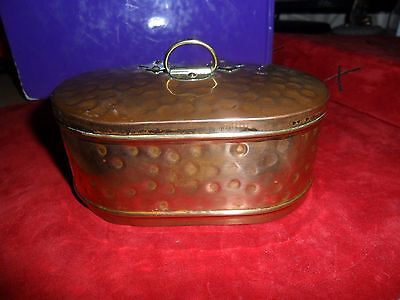 vintage  copper and brass tin box