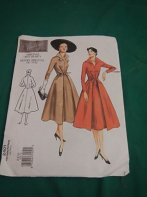 Vogue vintage 1952 day stand up collar party pattern Sz. 6 8 10 2401 uncut