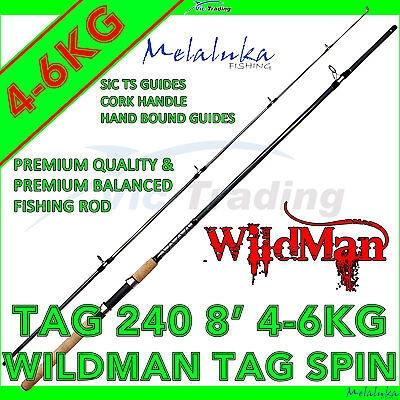 Melaluka WildMan TAG 240 - 8ft - 4-6kg Rated Two Section Spinning Rod