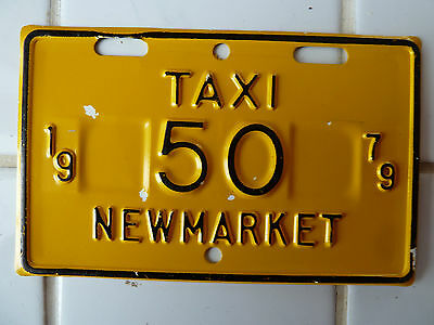 1979 New Market TAXI License Plate #50.......50G