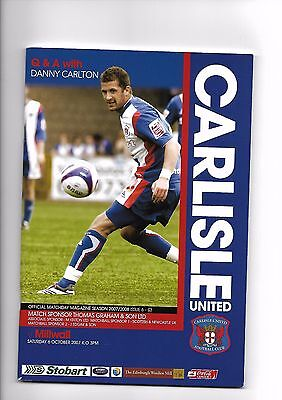 Carlisle United  v  Millwall, 6th October 2007