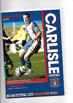 Carlisle United  v  Gillingham, 20th October 2007