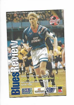 Carlisle United  v  Chester City, 20th August 1996