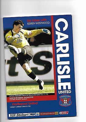 Carlisle United  v  Hartlepool United, 1st January 2008