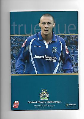 Stockport County  v  Carlisle United, 18th August 2009