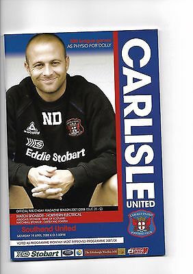 Carlisle United  v  Southend United, 19th April 2008