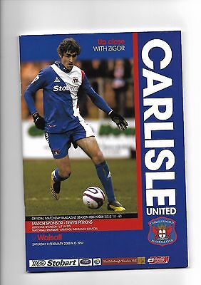 Carlisle United  v  Walsall, 2nd February 2008