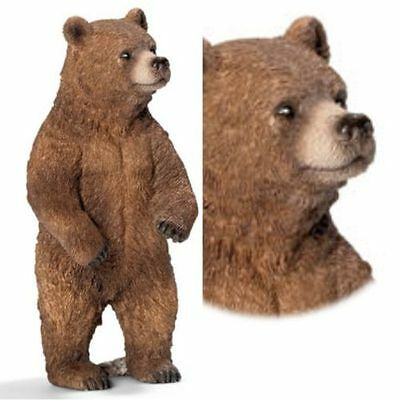 Schleich Grizzly Bear Standing With Tag