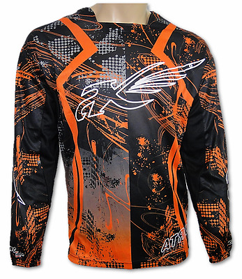 ATROX Motocross Jersey MX Shirt Trikot Orange Groeße L