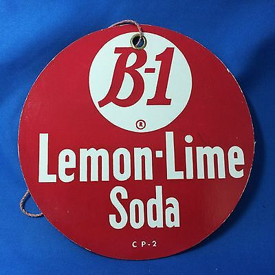 Original Vintage B-1 LEMON LIME SODA Light Fan PULL Advertising Sign