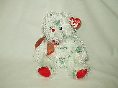 TY Punkies LIL SANTA CLAWS claus bear decorated w/ trees 2005 w/ tag  EUC