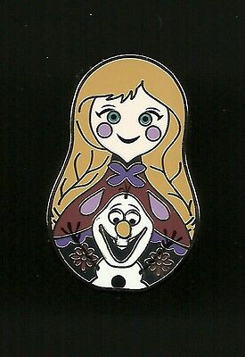 Anna and Olaf the snowman from Frozen Nesting Doll Shaped Splendid Disney Pin
