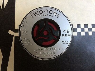 """The Bodysnatchers: Let's Do Rock Steady 7"""" on Two Tone. Jukebox centre"""