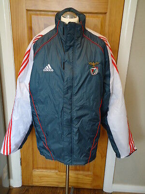 BENFICA 2005 Zip-Up Puffa JACKET Adidas BNWT XL Adults UNWORN Grey & White Rare