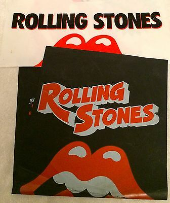 """Rolling Stones """"steel Wheels / Flashpoint"""" Set Of Two Rare Japanese Promo Bags!"""