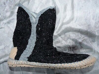 24 Pairs Of Slipper Boots Black Knitted 'next' Ex-Store Size S M L Wholesale Lot