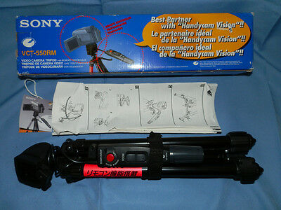 New Sony VCT-550RM Remote Camcorder Tripod