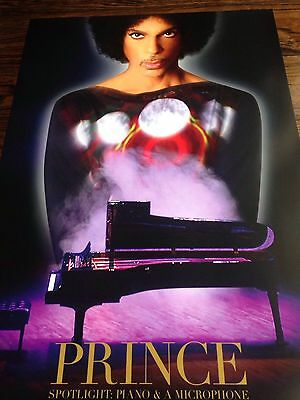 PRINCE Piano and Microphone Poster Tour 2016 concert