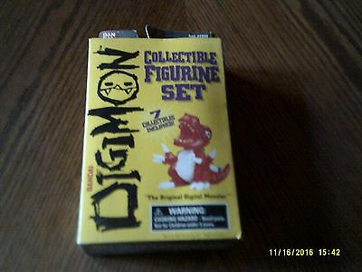 1997 Factory Sealed BANDAI DIGIMON 7 Figurine Set NEW in Package